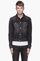 BLK DNM Washed black faded denim Jacket