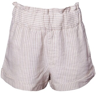Skin and Threads Linen Paperbag Shorts