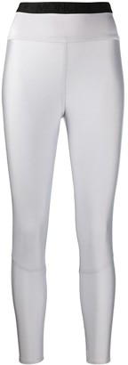 Moncler Metallic Sheen Cropped Leggings