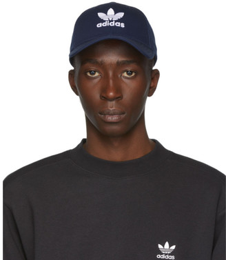 adidas Navy and White Trefoil Cap