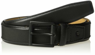 Cole Haan Men's 35mm Nylon Inlay Belt with Leather Trim