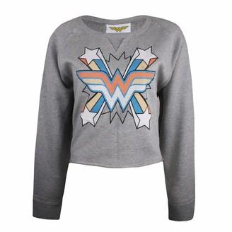 Dc Comics Women's Wonderwoman Burst Sweatshirt