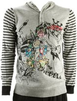 Ed Hardy Mens Tattoo Hooded Sweater