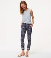 LOFT Floral Essential Skinny Ankle Pants in Marisa Fit