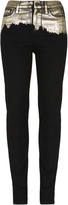 Vivienne Westwood Anglomania High Waisted Super Skinny Jeans Black/Gold Size 27