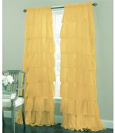 Lorraine Home Fashions Gypsy Ruffled Window Curtain Panel, 60 by 63-Inch