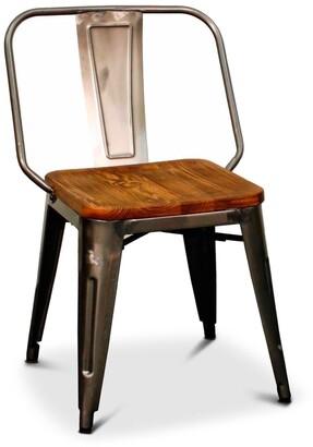 Apt2B Grand Metal Side Chair GUNMETAL - SET OF 4