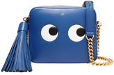 Anya Hindmarch Eyes Embossed Leather Shoulder Bag - Royal blue