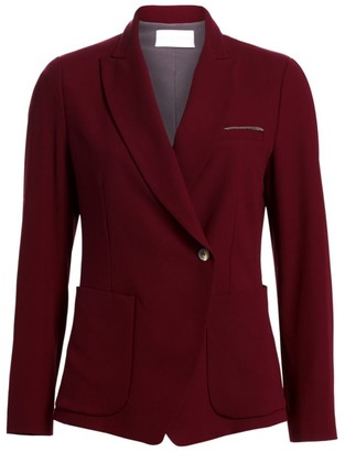 Fabiana Filippi Metallic Detail Flowing Wool Blazer