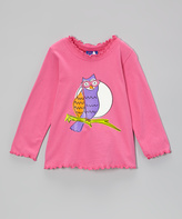 Flap Happy Pink Mod Owl Tee - Infant & Toddler