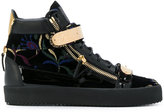 Giuseppe Zanotti Design Kriss Shanghai hi-top sneakers - men - Leather/Velvet/Foam Rubber - 39