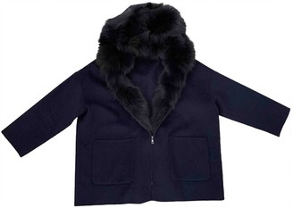 P.A.R.O.S.H. Blue Fox Coat for Women