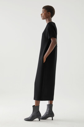 Cos Boxy Boat Neck Scuba Dress