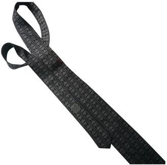 Hermes Grey Silk Ties