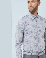 GELATTO Floral jacquard cotton shirt