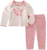 Kate Spade Ma Petit Fleur Mini-Floral Print Pajama Set, Size 3-9 Months
