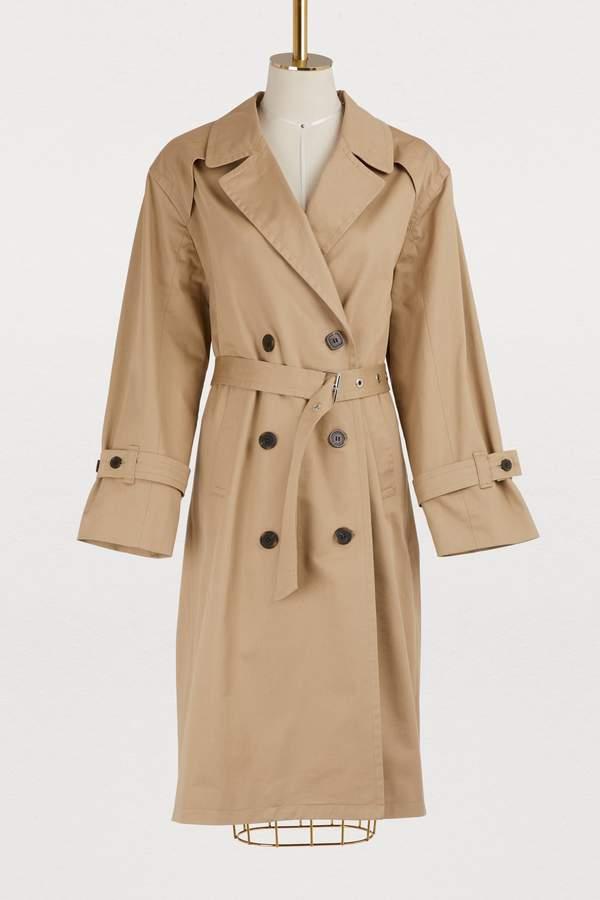 MAISON KITSUNÉ Helena cotton trench coat