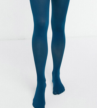 Lindex Maternity recycled poly 50 denier tights in teal