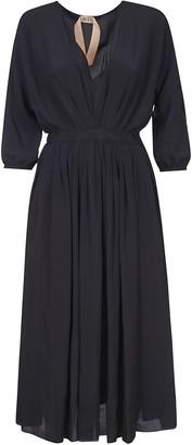 N°21 N.21 Long V-neck Dress