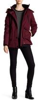 NOIZE Borge Removable Faux Fur Trim Hooded Coat