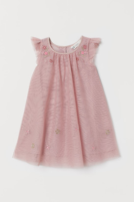 H&M Tulle dress with embroidery