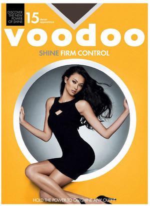 Voodoo Shine Firm Control Sheers 15 Denier 1 Pack Black