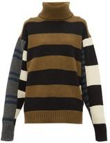 Colville - Roll-neck Striped Wool Sweater - Womens - Blue Multi