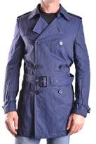 Daniele Alessandrini Men's Blue Cotton Trench Coat.
