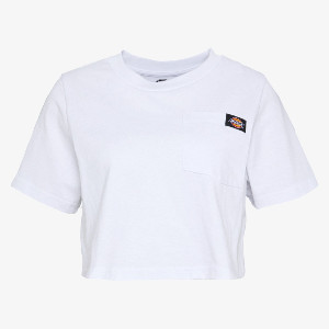 Dickies Ellenwood Women's Cropped T-Shirt - black | Medium (M) - White/Black/Black