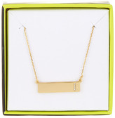 BaubleBar 14K Gold Plated Ice &I& Initial Bar Pendant Necklace