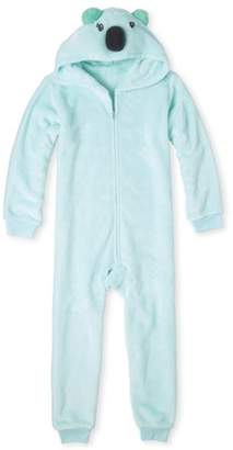 Children's Place The The Childrens Place Koala Head Long Sleeve Zip-Up Hooded Pajama Onesie (Little Girls and Big Girls)