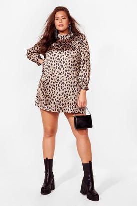 Nasty Gal Womens Hey Meow You Doing Satin Mini Dress - Grey - 16