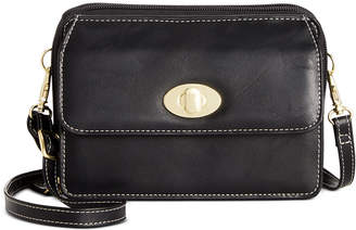 Giani Bernini Turn-lock Glazed Crossbody Wallet