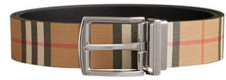 Burberry Clark Reversible Vintage Check Leather Belt