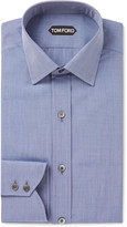 Tom Ford - Blue Slim-fit End-on-end Cotton Shirt