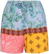 Esteban Cortazar paisley-print shorts