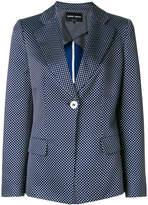 Giorgio Armani embroidered fitted blazer