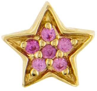Andrea Fohrman Mini Pink Sapphire Star Single Stud - Yellow Gold
