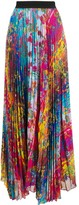 Golden Goose floral-print pleated skirt