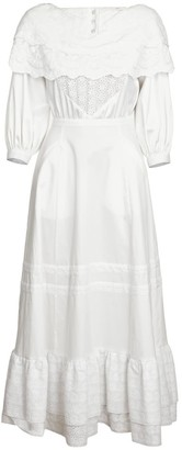 Jiri Kalfar White Bohemian Dress With Embroidery