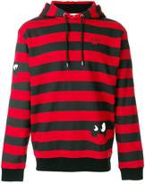 McQ monster striped hoodie