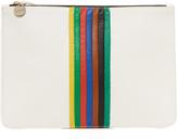 Clare Vivier Rainbow Margot Flat Supreme Clutch