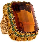 Buccellati Citrine & Emerald Cocktail Ring