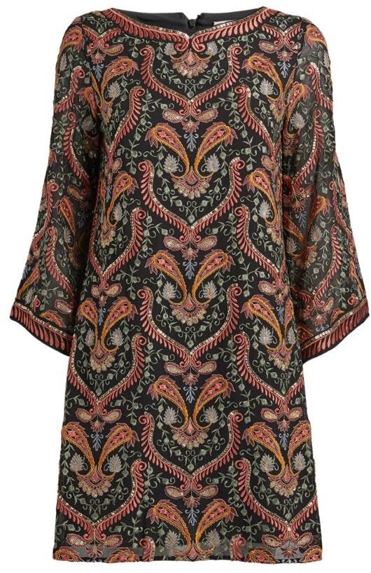 Alice + Olivia Embroidered Eleonara Dress