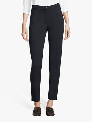 Betty Barclay Ankle Zip Detail Straight Trousers, Dark Sky