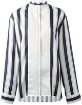 Haider Ackermann collarless stripe blouse