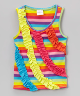 Tutus by Tutu AND Lulu Rainbow Stripe Ruffle Top - Infant