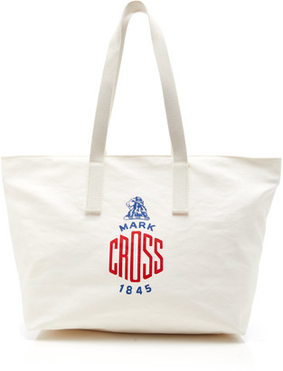 Mark Cross Weatherbird Small Printed Canvas Tote