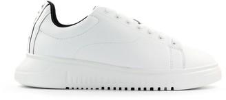 Emporio Armani White Sneaker With Logo Band