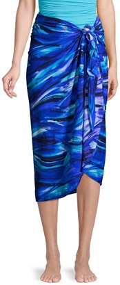 Miraclesuit Abstract-Print Sarong Coverup